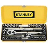 "STANLEY 37 Piece 1/4"" & 3/8"" Drive Socket Set [89-517-23] - Kunci Sok Set"